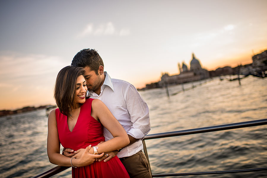 sunset venice wedding