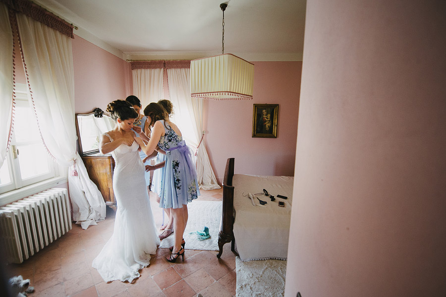 preparazione sposa in villa