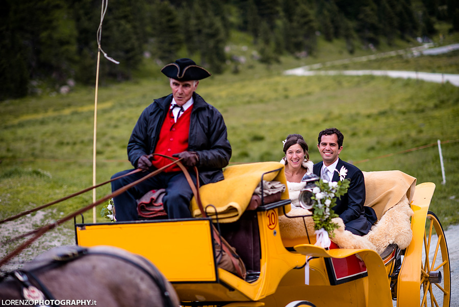Swiss carriage wedding