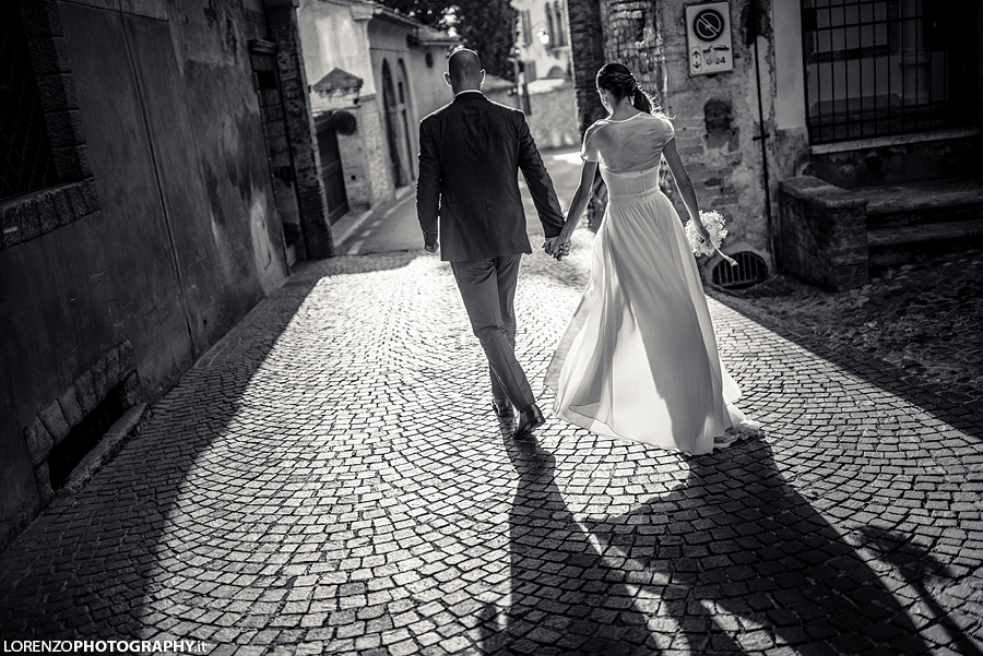 Italy wedding in street