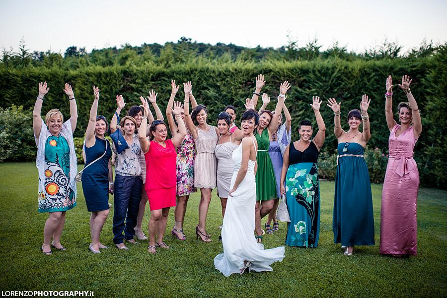 foto di gruppo matrimonio verona