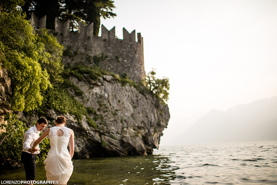 italy wedding lake