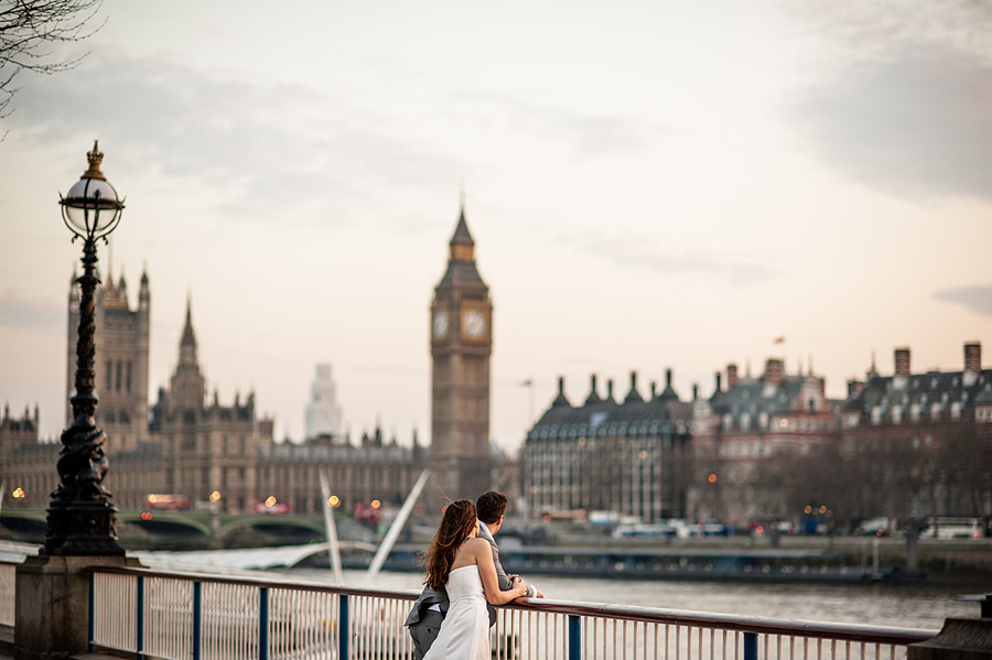 destination wedding photographer London eye